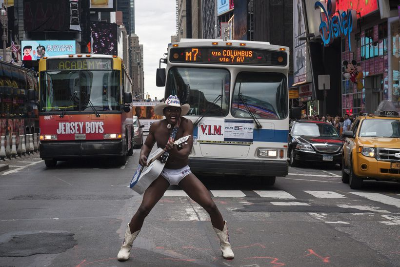 Superstar New York Naked Cow Boy Gif