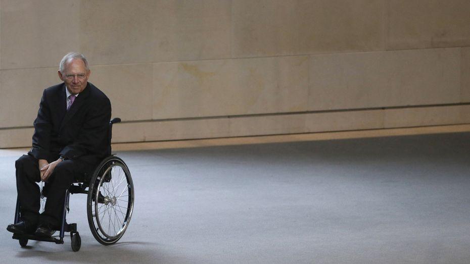 Über weitergehende Maßnahmen kann der deutsche Finanzminister nicht verhandeln, er muss Nein sagen. (Finanzminister Wolfgang Schäuble zur Frage des Schuldennachlasses) / Bild: (c) REUTERS (TOBIAS SCHWARZ)