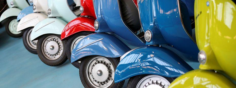 Vespas sind nach wie vor ein Exportschlager – grundsätzlich schwächelt Italiens Wirtschaft aber. / Bild: REUTERS