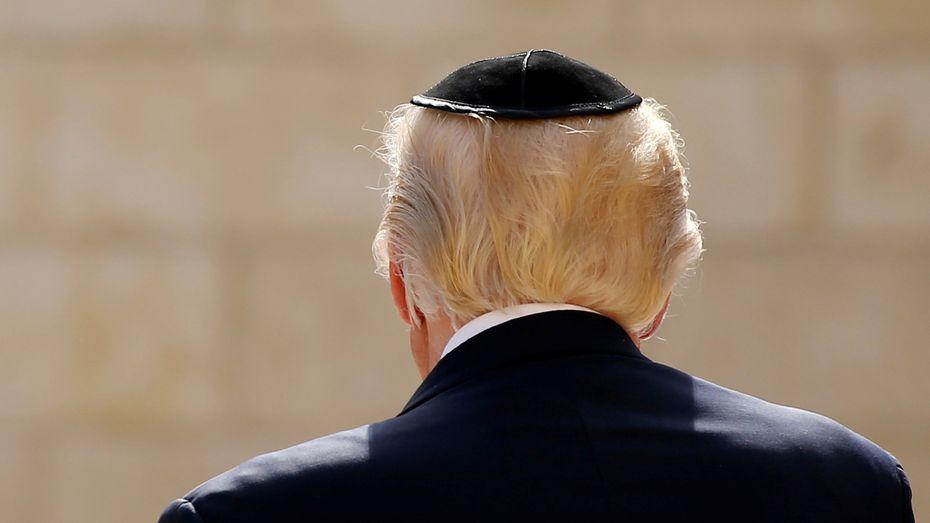 Am ersten Tag seines Besuchs in Israel suchte US-Präsident Donald Trump bei einer privaten Visite neben der Grabeskirche auch die Klagemauer in Jerusalem auf. / Bild: (c) REUTERS (JONATHAN ERNST)