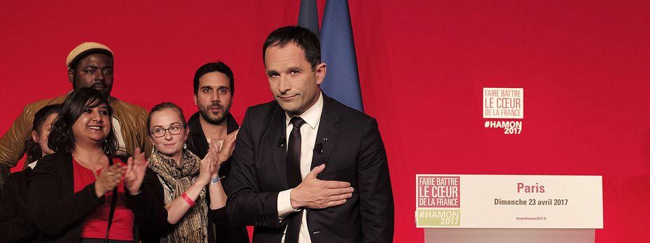 Dem sozialistische Kandidat Benoît Hamon wurden von Anfang an kaum Chancen auf einen Erfolg bei der Wahl gegeben. / Bild: APA/AFP/PHILIPPE LOPEZ