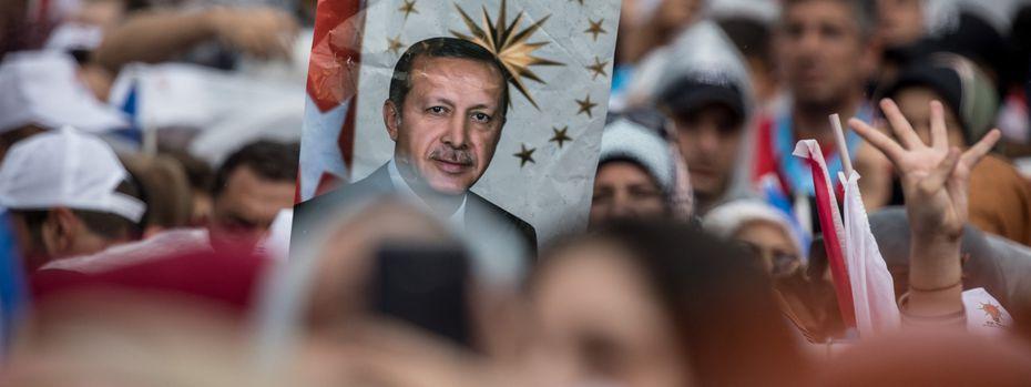 Der türkische Präsident Erdogan im Wahlkampf / Bild: (c) Getty Images (Chris McGrath)