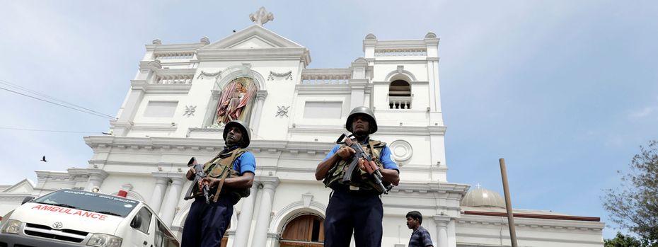 Das Militär bewacht die Kirche St. Antonius in Colombo  / Bild: Reuters (Dinuka Liyanawatte)