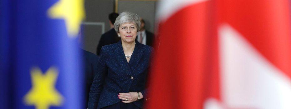 """Premierministerin Theresa May versuchte, ihre Landsleute im endlosen Brexit-Drama zu beruhigen: """"Ich bin mir absolut sicher: Ihr habt genug davon."""" / Bild: (c) APA/AFP/ARIS OIKONOMOU (ARIS OIKONOMOU)"""