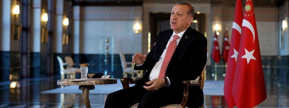 Der türkische Präsient Recep Tayyip Erdogan im Interview mit der Nachrichtenagentur Reuters. / Bild: REUTERS