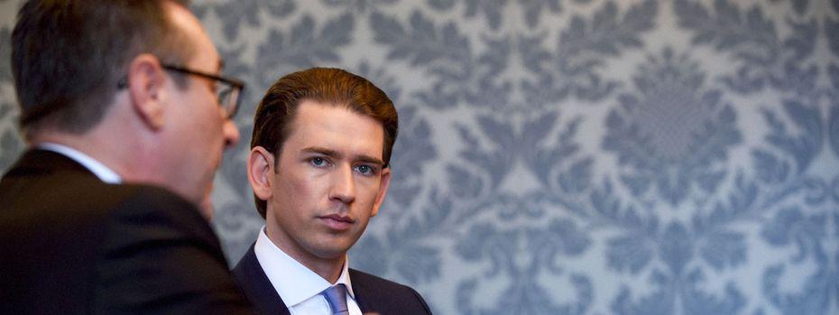 Kanzler Kurz und Vizekanzler Strache (l.) / Bild: Die Presse (Clemens Fabry)