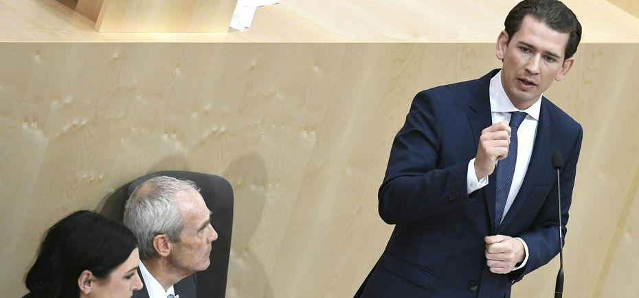 Kanzler Kurz in der Sondersitzung des Nationalrats. / Bild: (c) APA (Robert Jäger)