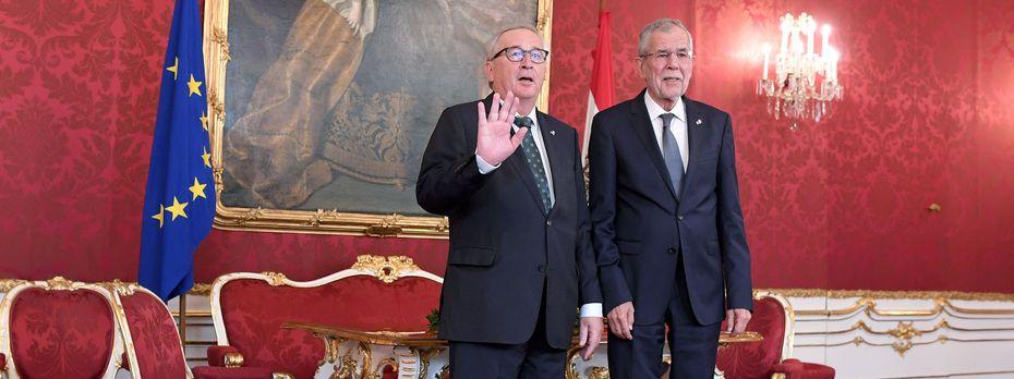 Jean-Claude Juncker und Van der Bellen. / Bild: (c) APA (Roland Schlager)