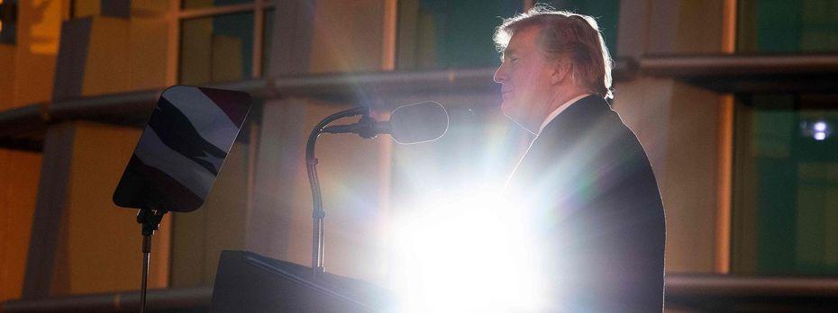 "US-Präsident Donald Trump sieht sich durch den Mueller-Bericht ""total entlastet"". / Bild: JIM WATSON / AFP / picturedesk.comc"