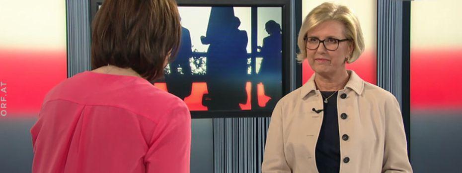 "Rechnungshof-Präsidentin Margit Kraker im ORF-""Report"". / Bild: (c) Screenshot"