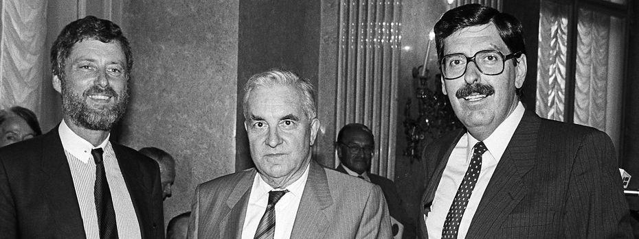 Helge Bauer, Tassilo Broesigke und Norbert Steger / Bild: Robert Jäger / APA-Archiv / pict