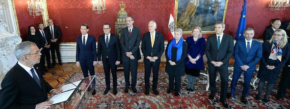Angelobung der neuen Regierung / Bild: APA