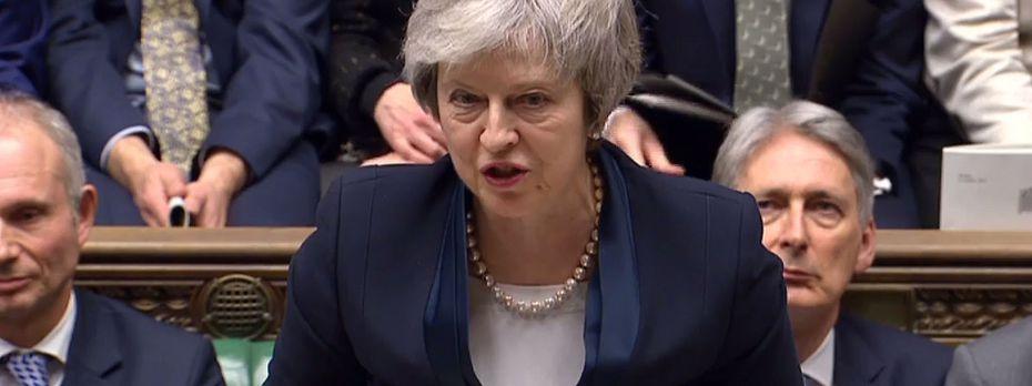 Theresa May reagierte gefasst auf die Niederlage im Unterhaus. / Bild: APA/AFP/PRU/HO