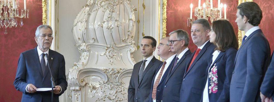 Bundespräsident Alexander Van der Bellen lehnt das Angebot der Demissionierung der Regierung ab / Bild: APA/HANS PUNZ