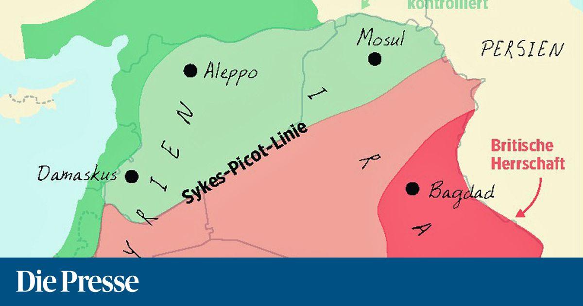Nahost Karte.Der Federstrich Der Kolonialisten Fallen Die Grenzen In Nahost