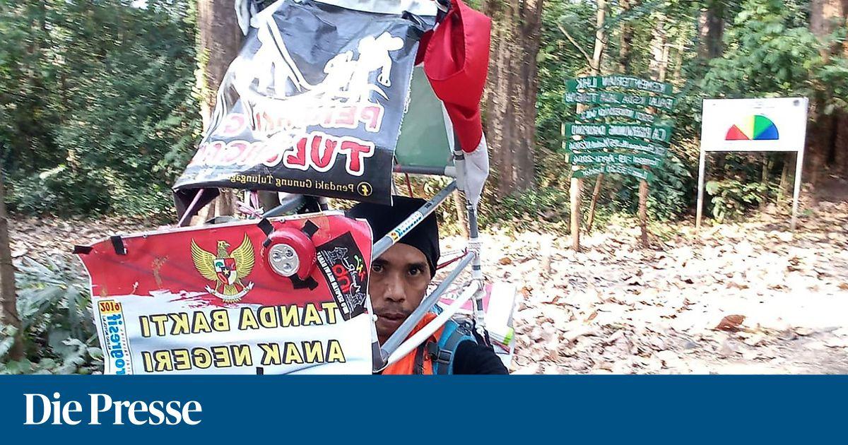 Protest gegen Abholzung: Indonesier wandert 700 Kilometer rückwärts