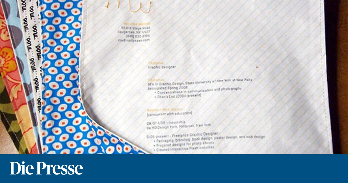 Kreative Bewerbung: Neues Jahr, neuer Job « DiePresse.com