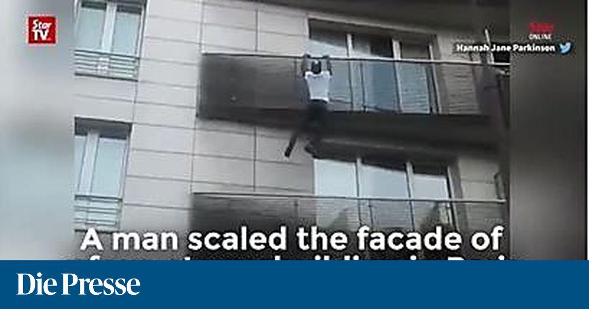 spiderman von paris rettet kind von balkon. Black Bedroom Furniture Sets. Home Design Ideas