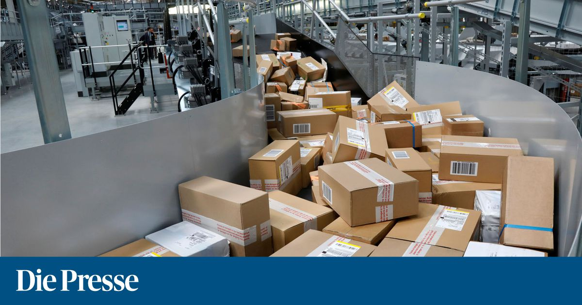 Packages are seen at the new package sorting and delivery ups united parcel service hub in corbeil essonnes and evry 1537290694564697
