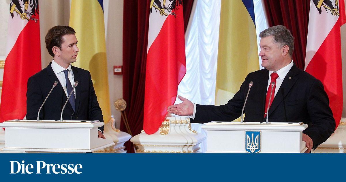 """Poroschenko zu Kurz: """"Weder Fußball-WM noch Hochzeiten können Putin stoppen"""""""