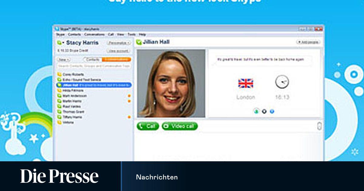 Neues Skype 4.0 mit Vollbild-Video-Telefonie | DiePresse.com