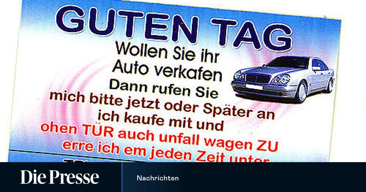 Linz Maßnahmen Gegen Autokauf Kärtchen Diepresse Com