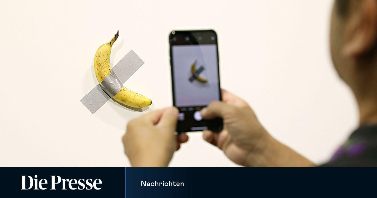 Künstler aß 120.000 Dollar teure Banane, muss aber nichts zahlen