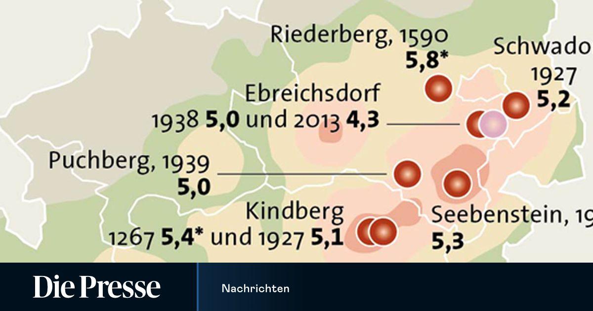 Erdbeben Österreich 1972 - Vor 40 Jahren Letztes Starkes ...