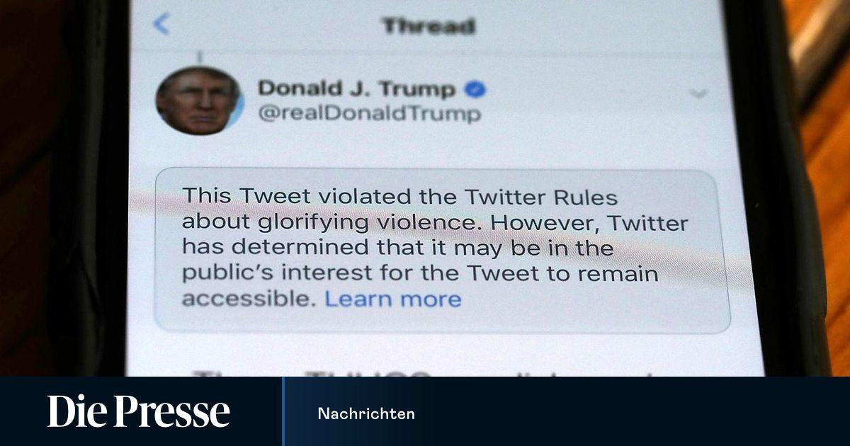 Twitter erwägt Sperrung von Trumps Konto