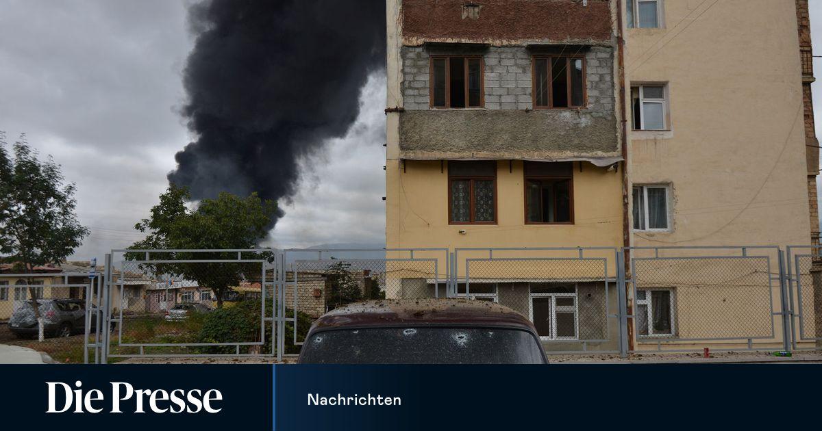 Hauptstadt Von Berg Karabach Mit Raketen Angegriffen Diepresse Com