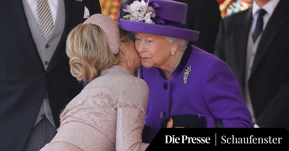Ein Kuss für die Queen: Das niederländische Königspaar besucht London